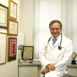 Dr. Albert Levy in his office